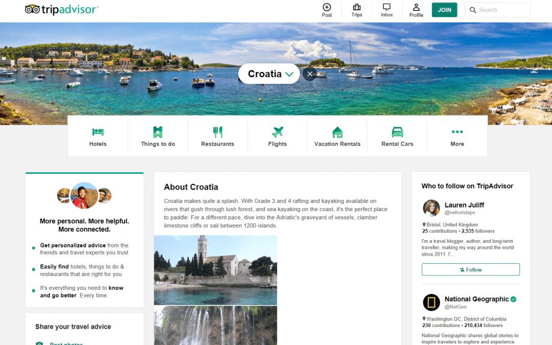 Hrvatska na TripAdvisoru