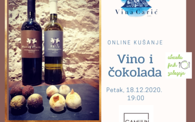 Online kušanje Vina Carić & Gamulin Chocolates